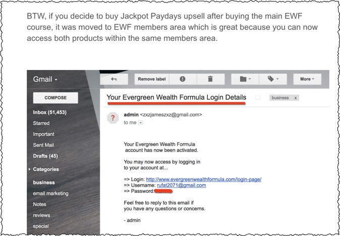 proof of payment evergreen wealth