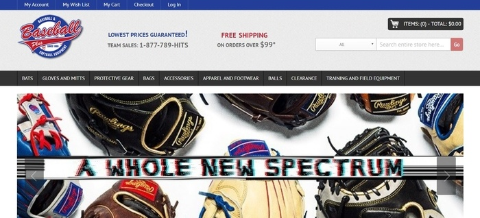 screenshot of the affiliate sign up page for Baseball Plus Store