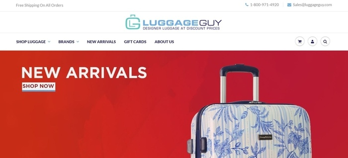 screenshot of the affiliate sign up page for LuggageGuy.com