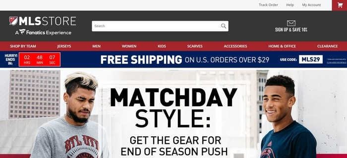 screenshot of the affiliate sign up page for MLSStore.com