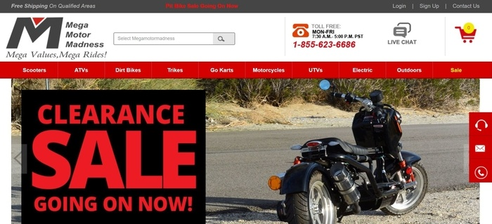 screenshot of the affiliate sign up page for Mega Motor Madness