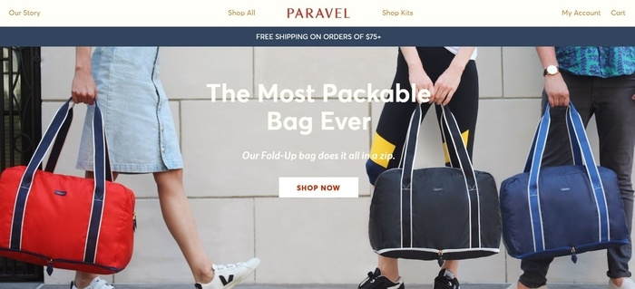 screenshot of the affiliate sign up page for Paravel