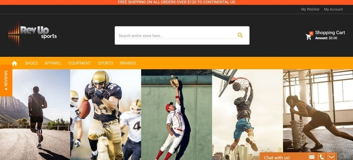 screenshot of the affiliate sign up page for RevUpSports