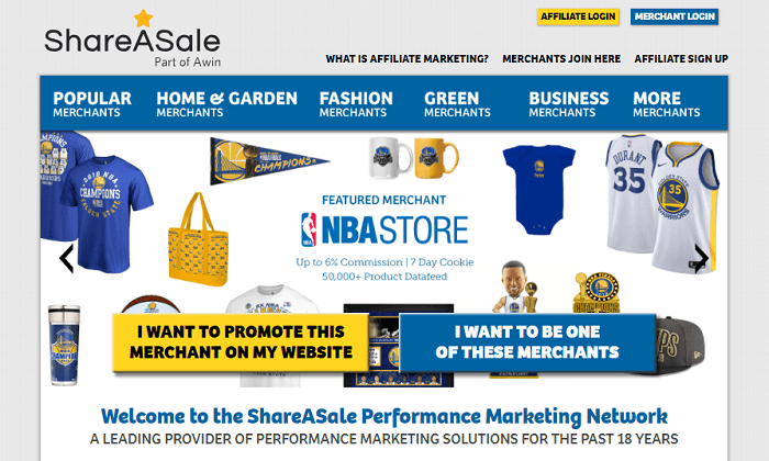 ShareASale Home Page