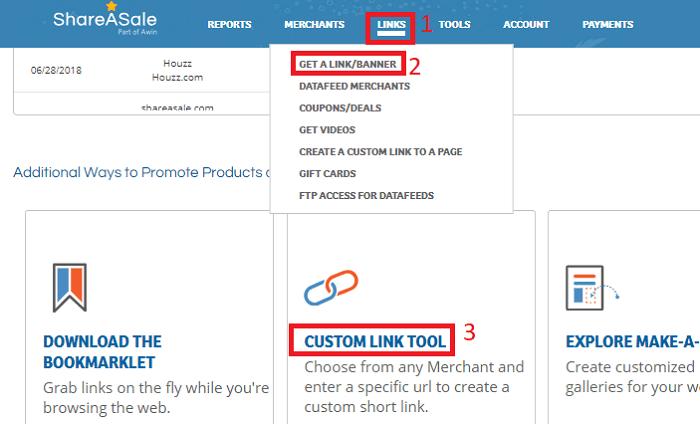 ShareASale Merchant Custom Link Tool