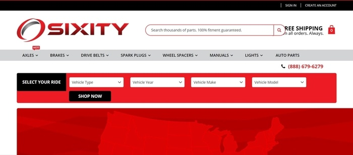screenshot of the affiliate sign up page for Sixity