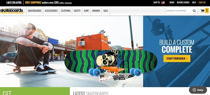 screenshot of the affiliate sign up page for Warehouse Skateboards