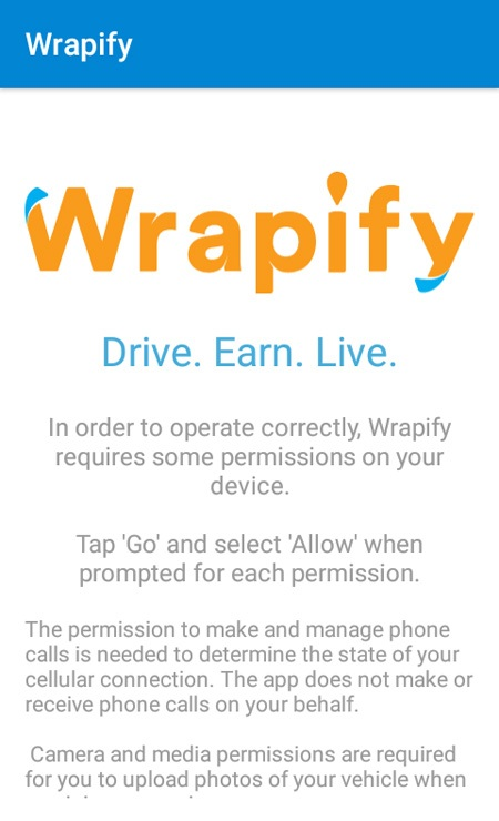 Wrapify Home Screen