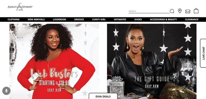 screenshot of the affiliate sign up page for Ashley Stewart