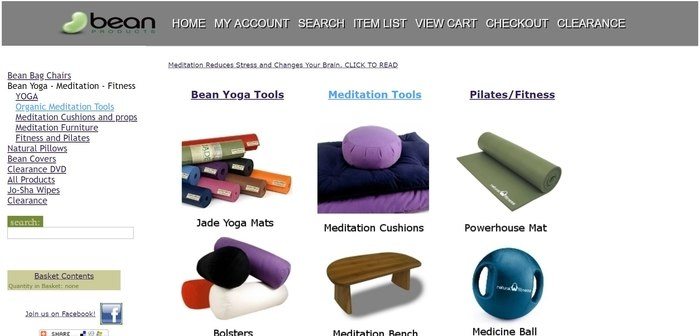 screenshot of the affiliate sign up page for Bean Products