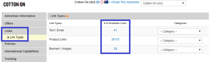 Cotton On Affiliate Links