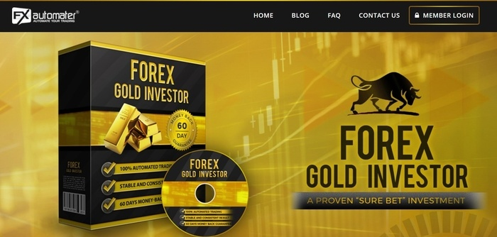 screenshot of the affiliate sign up page for Forex Gold Investor