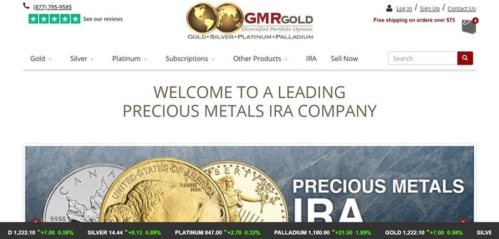 screenshot of the affiliate sign up page for GMRgold