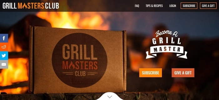 screenshot of the affiliate sign up page for Grill Masters Club