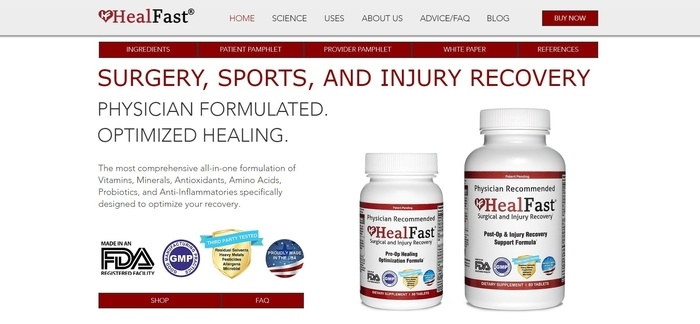 screenshot of the affiliate sign up page for HealFast