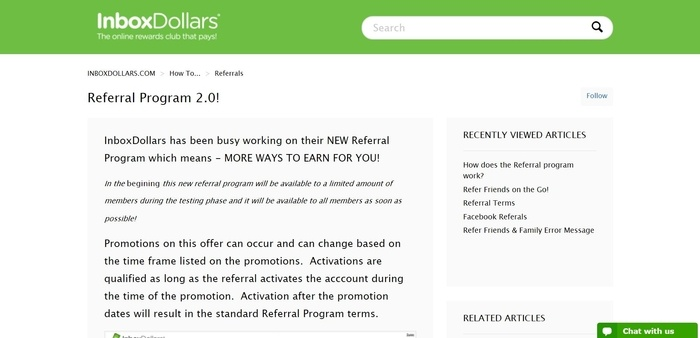 screenshot of the affiliate sign up page for InboxDollars