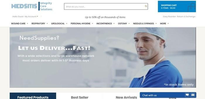 screenshot of the affiliate sign up page for Medsitis