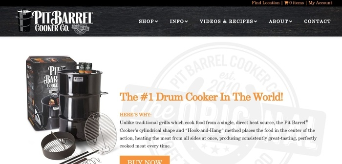 screenshot of the affiliate sign up page for Pit Barrel Cooker Co.