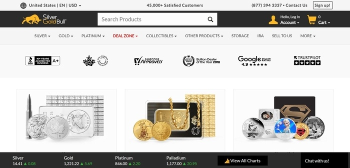 screenshot of the affiliate sign up page for Silver Gold Bull