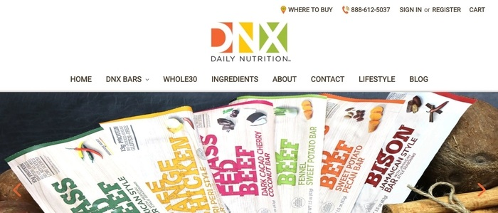screenshot of the affiliate sign up page for DNX