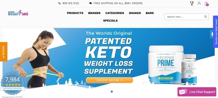 screenshot of the affiliate sign up page for Doctors Best Weight Loss