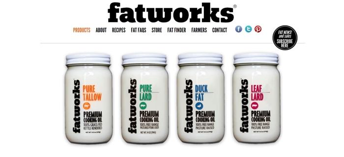 screenshot of the affiliate sign up page for Fatworks