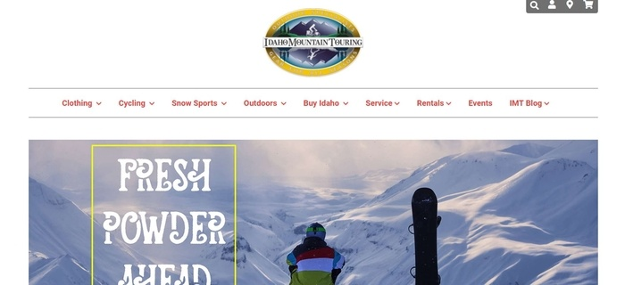 screenshot of the affiliate sign up page for Idaho Mountain Touring