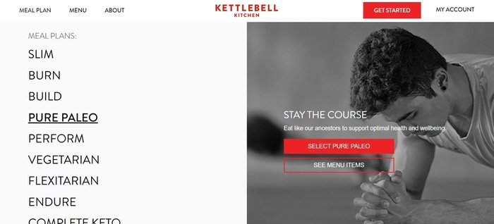 screenshot of the affiliate sign up page for Kettlebell Kitchen