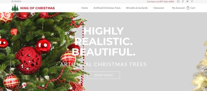 screenshot of the affiliate sign up page for King of Christmas