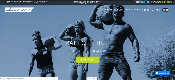 screenshot of the affiliate sign up page for Paleoethics