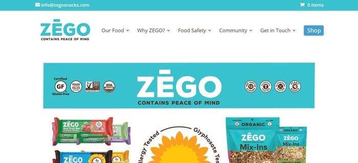 screenshot of the affiliate sign up page for Zego