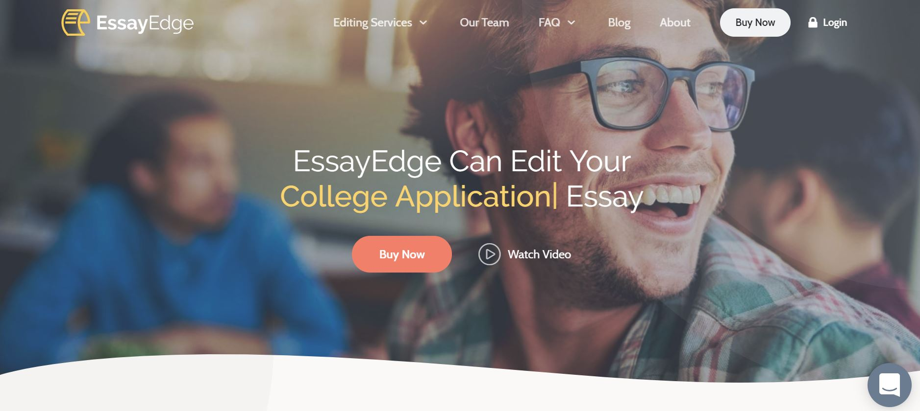 screenshot of the affiliate sign up page for EssayEdge