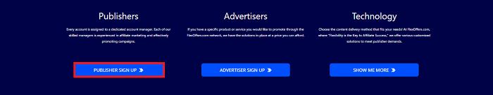 FlexOffers Advertiser Sign Up