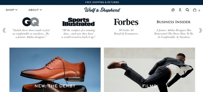 screenshot of the affiliate sign up page for Wolf & Shepherd