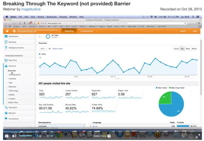 """premium video on how to find keywords using Google Analytics when """"keyword not provided"""" isn't enough data"""