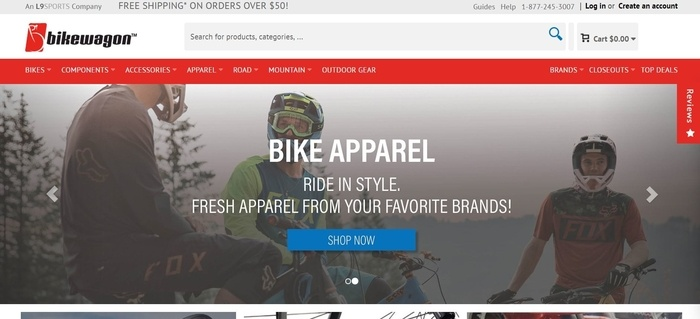 screenshot of the affiliate sign up page for Bikewagon