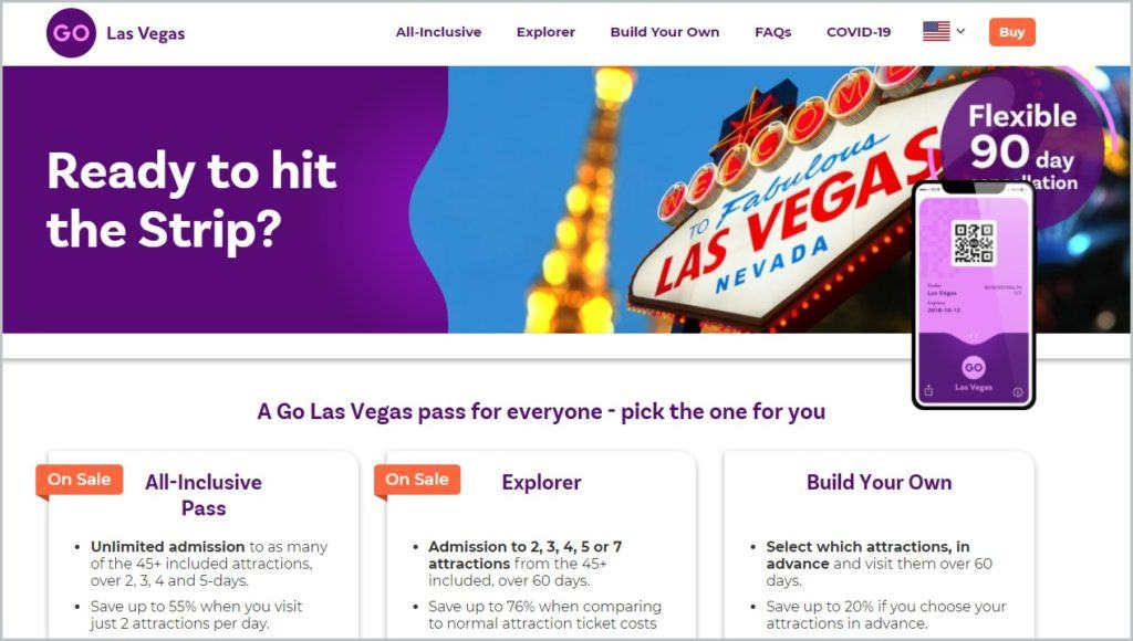 screenshot of Go City homepage