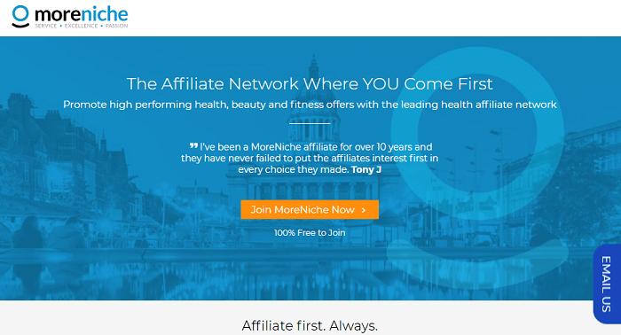 MoreNiche Home Page