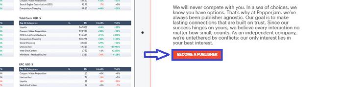 Pepperjam Affiliate Publisher Sign Up