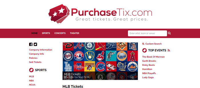 screenshot of the affiliate sign up page for PurchaseTix