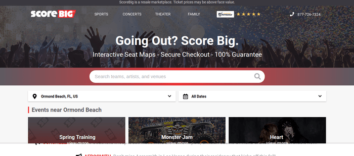 screenshot of the affiliate sign up page for ScoreBig