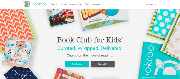 screenshot of the affiliate sign up page for Bookroo