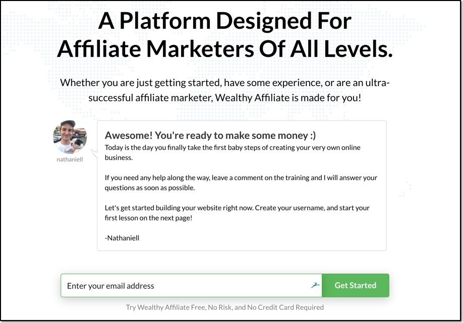 Sign Up To Wealthy Affiliate