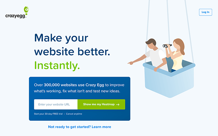 Crazy Egg lead funnel example