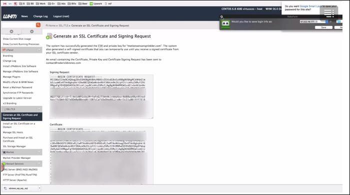 generate ssl certificate cpanel
