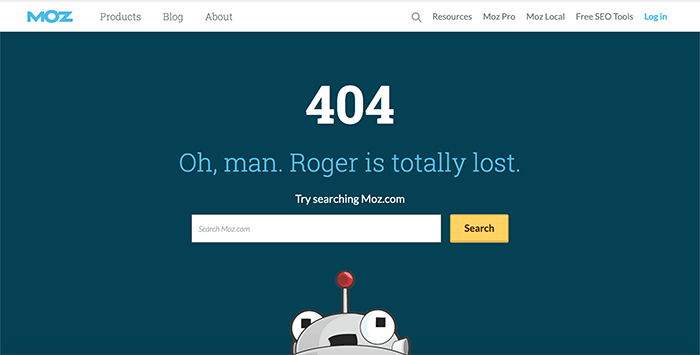 Great 404 page example
