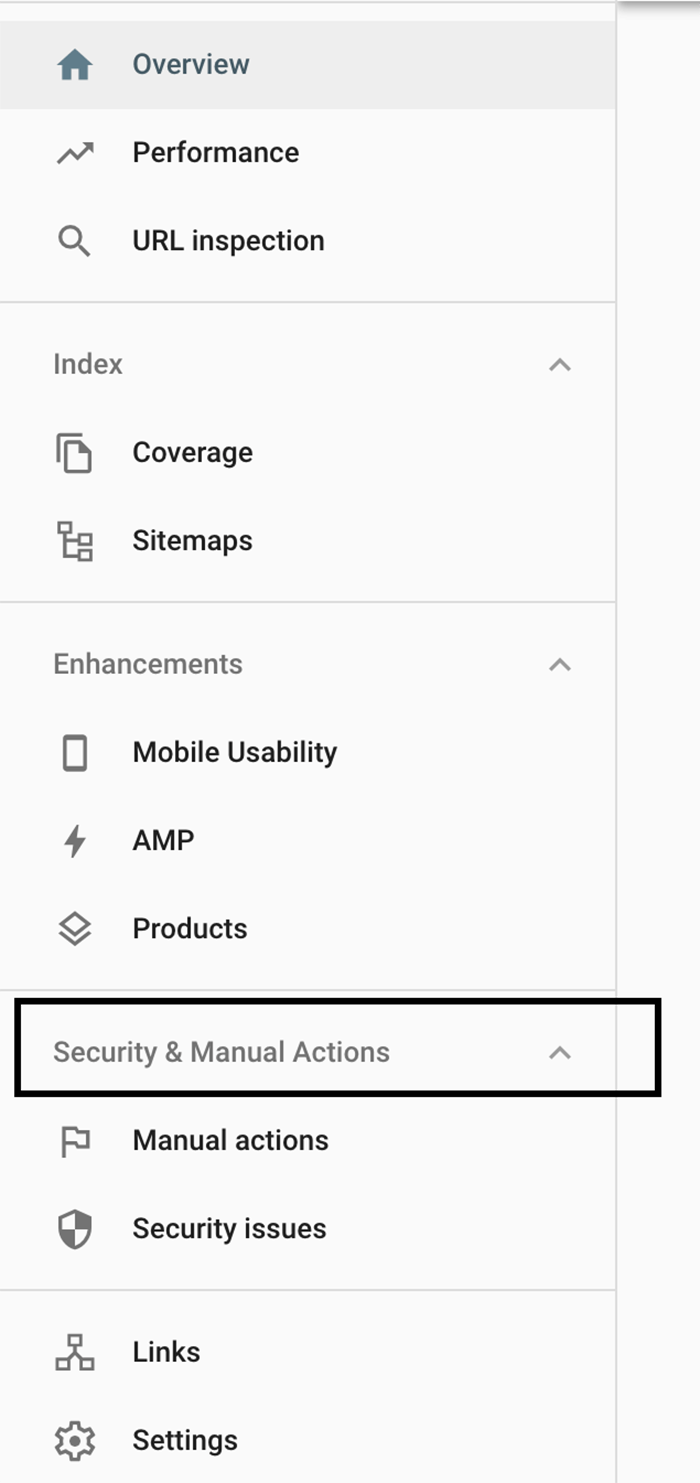 How to check for manual actions