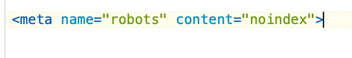No-index tag code