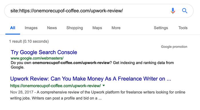 Site: search operator