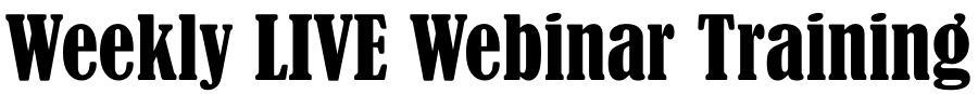 weekly live webinar training